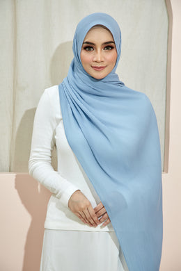 PLEATED SHAWL - POWDER BLUE