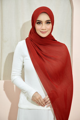 PLEATED SHAWL - RED