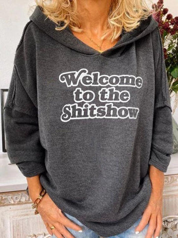 Ladies Personalized Letter Hoodie