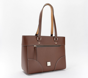 D & B Beacon Leather Zip-Top Large Tote