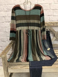 Striped O-Neck Shirts & Tops