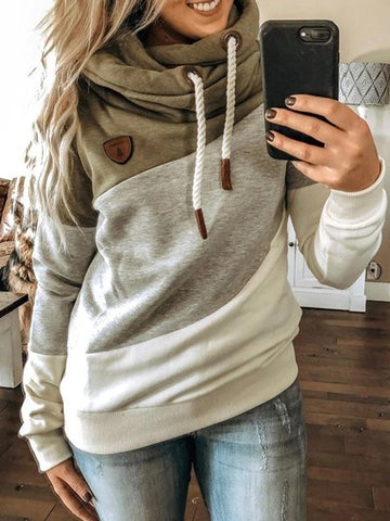 Women's Multicolor Long Sleeve Hoodies