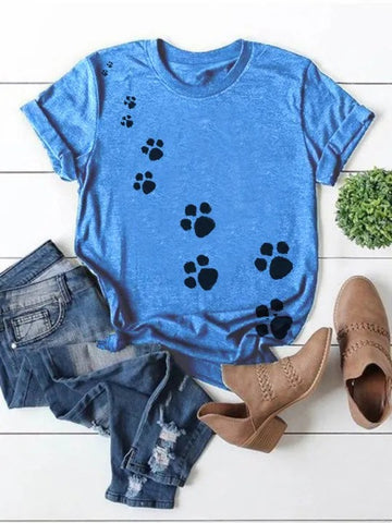 Women's Cute paw short sleeve