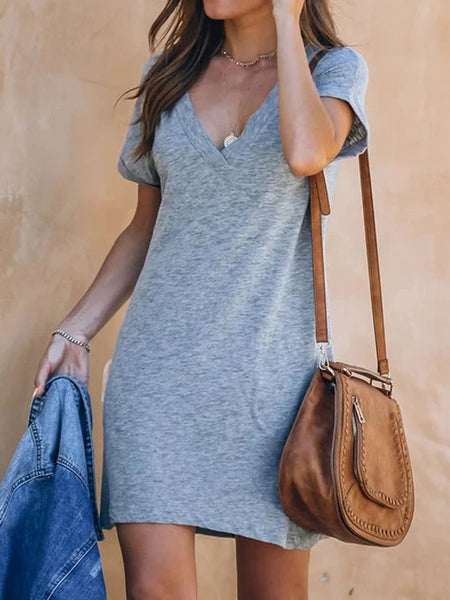 Deep V-neck Casual dress