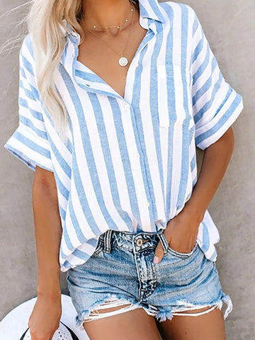 Buttoned Down Work Daily Striped Shirts
