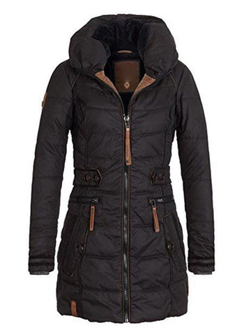 Berta Puffer Coat With Stand Collar