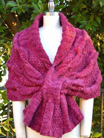 Purple Knitted Vintage Scarves & Shawls