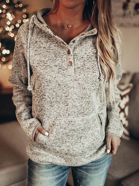 Casual Long Sleeve Cotton-Blend Sweater
