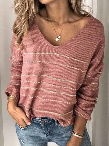 Women's Striped Knitted Fashion Warm Sweaters