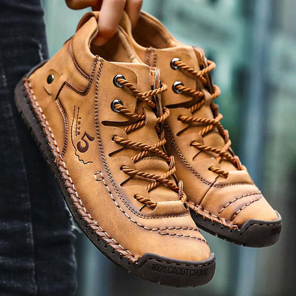 Men Hand Stitching Fashionable High-top Leather Boots