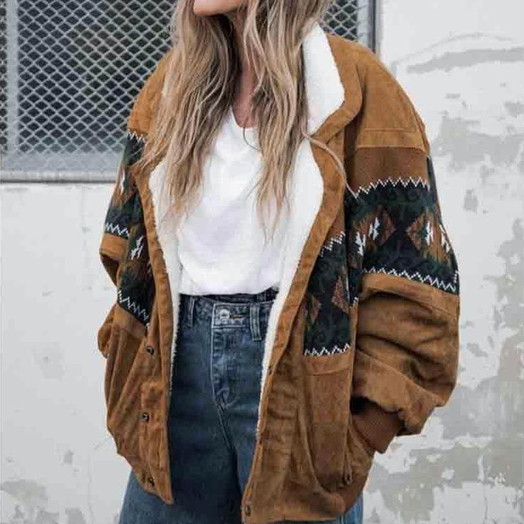 Vintage Brown Cotton Jackets