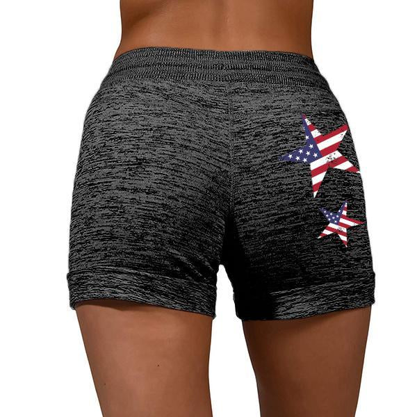 American Flag Stars Heather Comfy Shorts