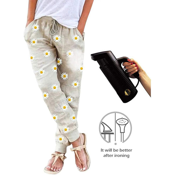 Women Fashion Summer Floral Printed Pencil Pants Trousers