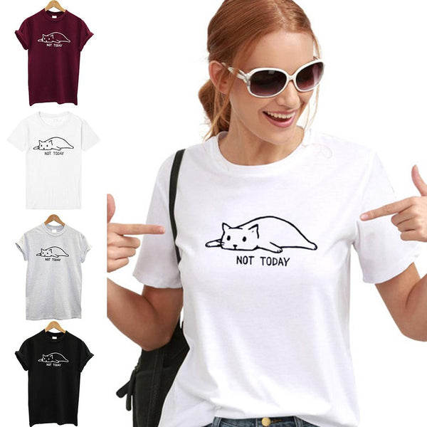 New Fashion Women Casual O-Neck Short Sleeve Prints Basic T-shirt