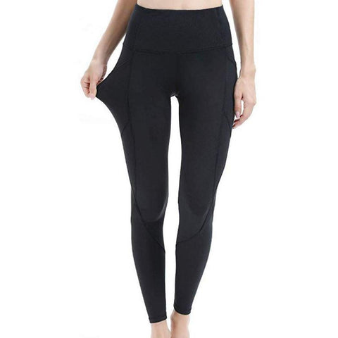 Solid Pocket Fitness Yoga Leggings