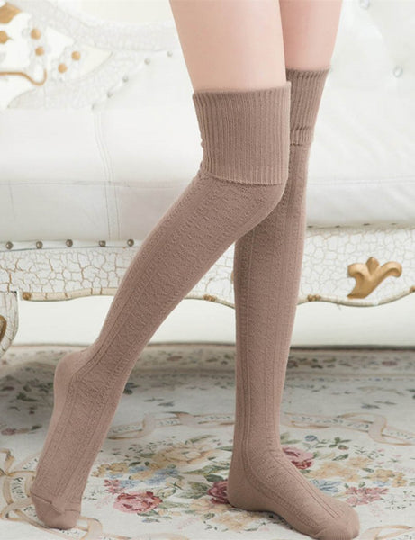 Knit Over Knee Socks