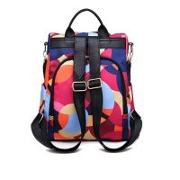 Women Casual Solid Patchwork Zipper Closure Outdoor Travel Backpack
