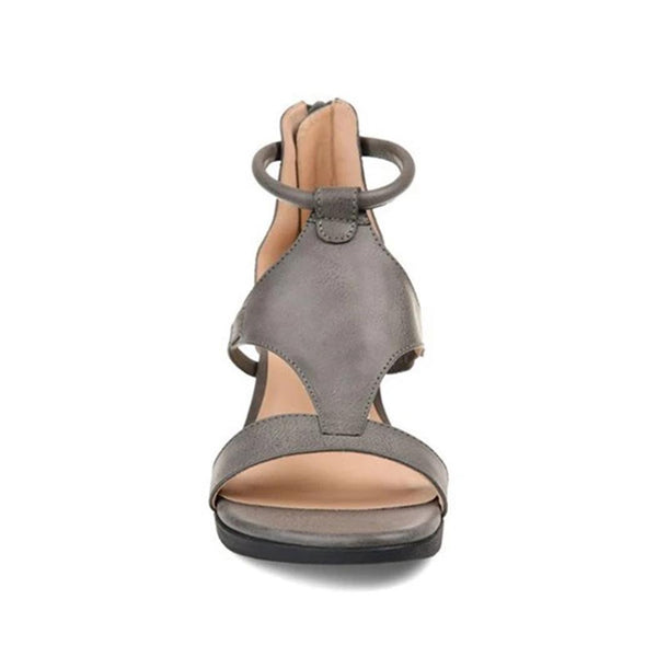 Women Summer Casual Open Toe Wedge Heel Beach Roman Sandals