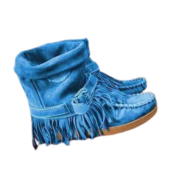 Women Artificial Leather Tassel Non-slip Breathable Casual Boots