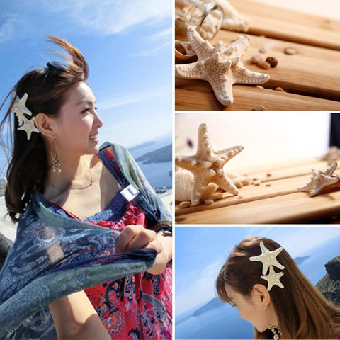 Women Girl Fashion Starfish Shape Hairpin Alligator Hair Clip Gift