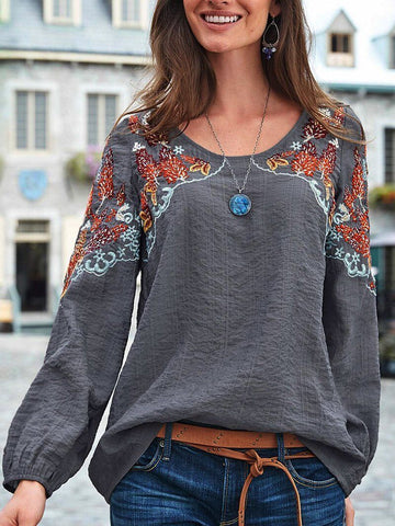 Embroidered ethnic blouse