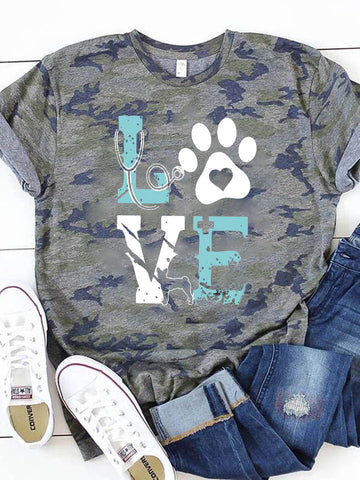 Women's Pet LOVE Short Sleeve T-Shirt