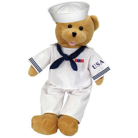 "American Heroes Navy Bear Sings ""Anchors Aweigh, my boys, Anchors Aweigh."""