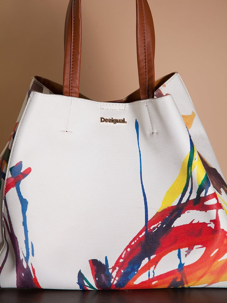 BAG - Lia Beige Handbag With Splashes Of Color-Desigual-Default-Shirlanka-Wynwood-Miami