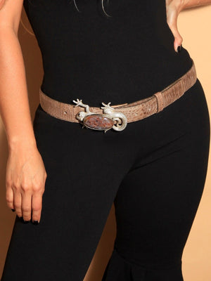 BELT - Nature & Leather-AdriO-Bone With Lizard-S|M-Shirlanka-Wynwood-Miami