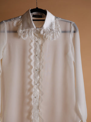 Load image into Gallery viewer, BLOUSE - Surat Long Sleeve White - Size M-La Tucha-Default-Shirlanka-Wynwood-Miami