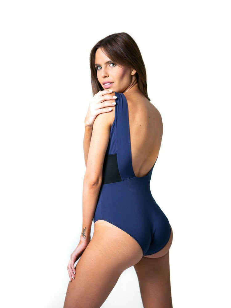 Load image into Gallery viewer, BODYSUIT - Alfa Navy Blue & Black - Size S-Suki Cohen-Default-Shirlanka-Wynwood-Miami