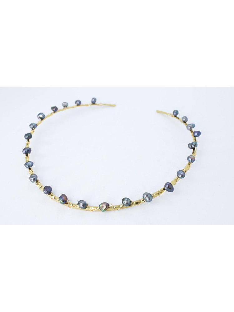 CHOKER - Amelia Grey Pearl Gold Plated-Crisobela-Default-Shirlanka-Wynwood-Miami