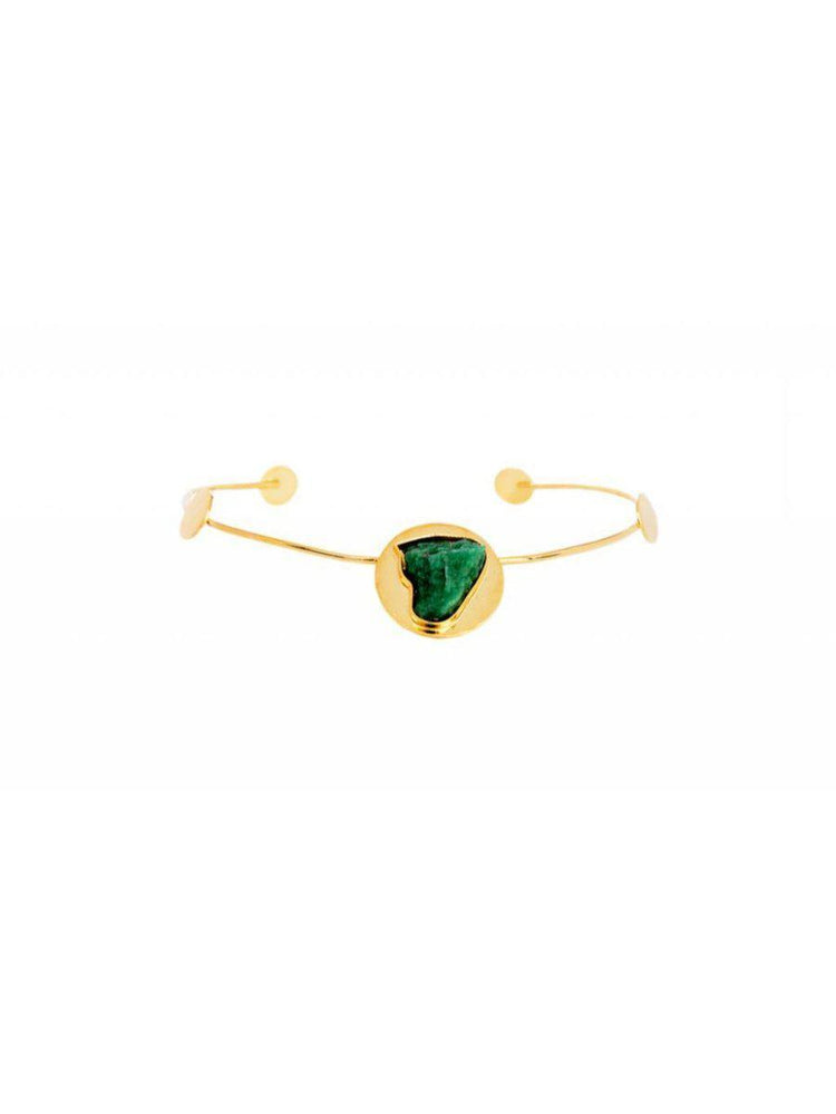 CHOKER - Debra 24k Gold With Emerald Accent-TAO-Default-Shirlanka-Wynwood-Miami