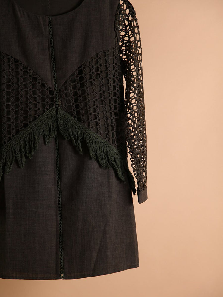 DRESS - Carmina Long Sleeve Dark Green-Emerging Designers-Shirlanka-Wynwood-Miami