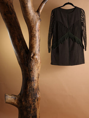 Load image into Gallery viewer, DRESS - Carmina Long Sleeve Dark Green-Emerging Designers-Shirlanka-Wynwood-Miami