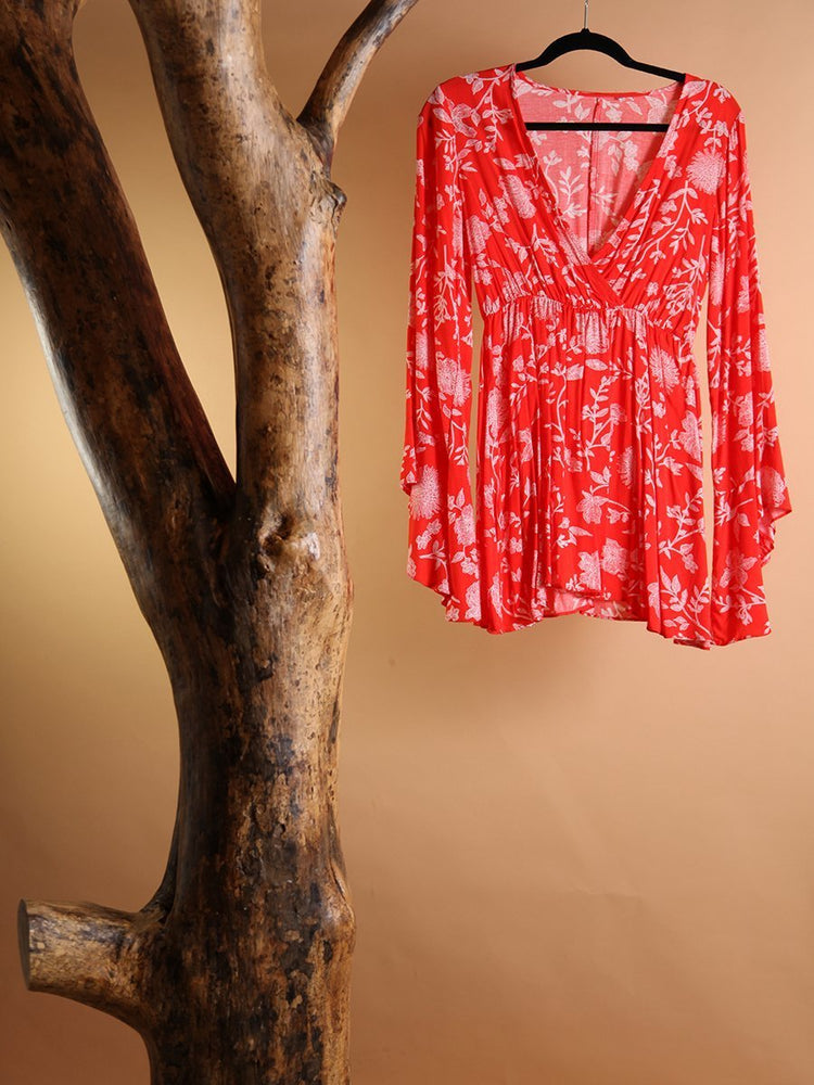 DRESS - Ivy On the Shoulder red - Size|S-Emerging Designers-Default-Shirlanka-Wynwood-Miami