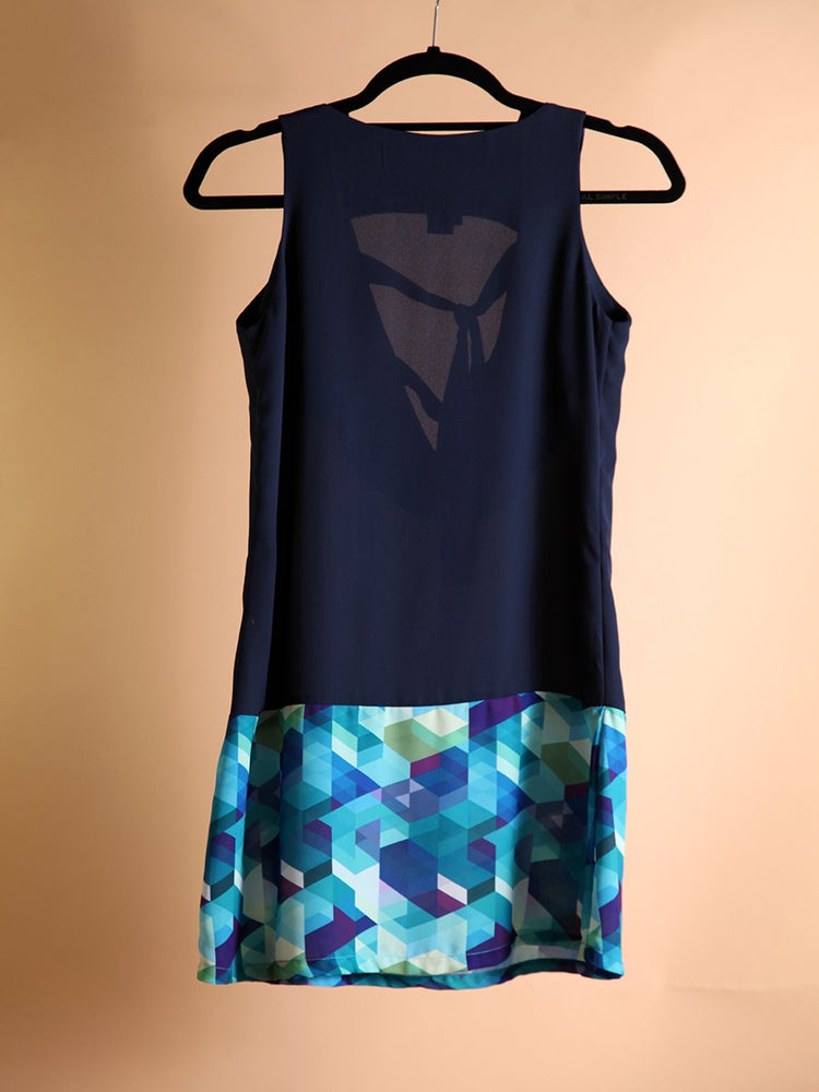 DRESS - Purpora Geometric Print - Size|6-Bendita Seas-Default-Shirlanka-Wynwood-Miami