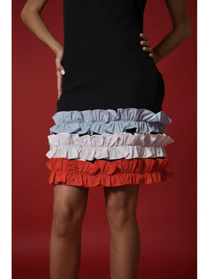 DRESS - Teri Stripped Ruffle - Size|M-Emerging Designers-Default-Shirlanka-Wynwood-Miami