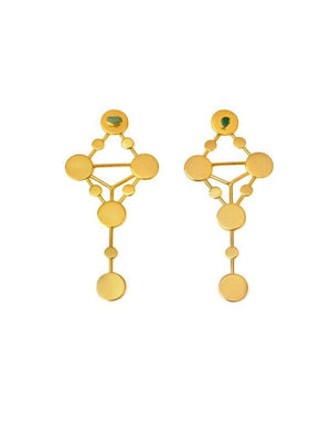 EARRINGS - Comets 24k Gold With Emeralds-TAO-Default-Shirlanka-Wynwood-Miami