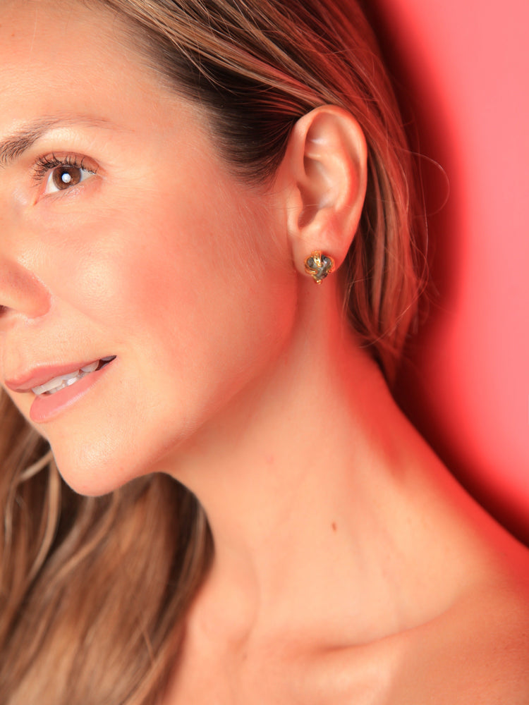 Load image into Gallery viewer, EARRINGS - Cristy Emerald Stud-Tantra-Default-Shirlanka-Wynwood-Miami