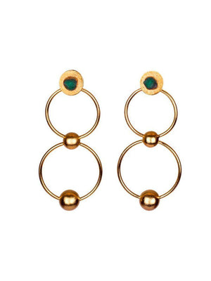 Load image into Gallery viewer, EARRINGS - Mila 25k Gold-TAO-Default-Shirlanka-Wynwood-Miami