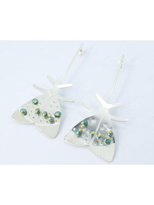 EARRINGS - Nelly Silver Butterfly-Crisobela-Default-Shirlanka-Wynwood-Miami