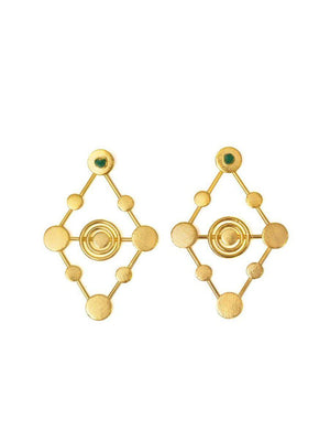 Load image into Gallery viewer, EARRINGS - Rombos 24k Gold-TAO-Default-Shirlanka-Wynwood-Miami