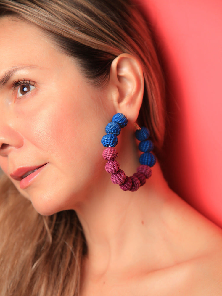 EARRINGS - Maxi Balls Blue/Purple-Tantra-Default-Shirlanka-Wynwood-Miami