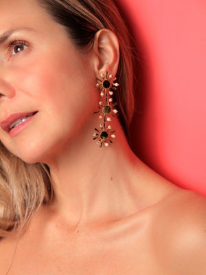 EARRINGS - Sunshine Trio Gold Plated-Crisobela-Default-Shirlanka-Wynwood-Miami