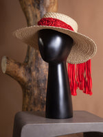 HAT - Corozo (Natural/Red)-Margarita Diaz del Castillo-Default-Shirlanka-Wynwood-Miami