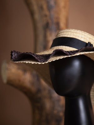HAT - Olas Natural and Black-Margarita Diaz del Castillo-Default-Shirlanka-Wynwood-Miami