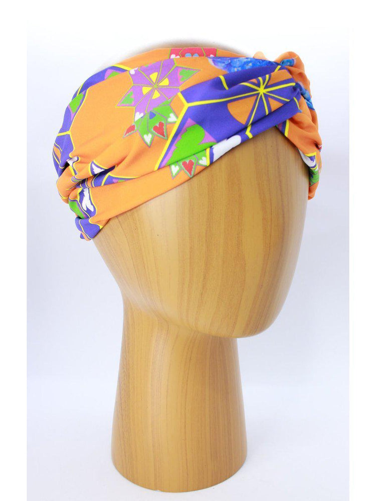 HEADBANDS - Lara Floral-Miss Balanta-ORANGE/PURPLE-Shirlanka-Wynwood-Miami