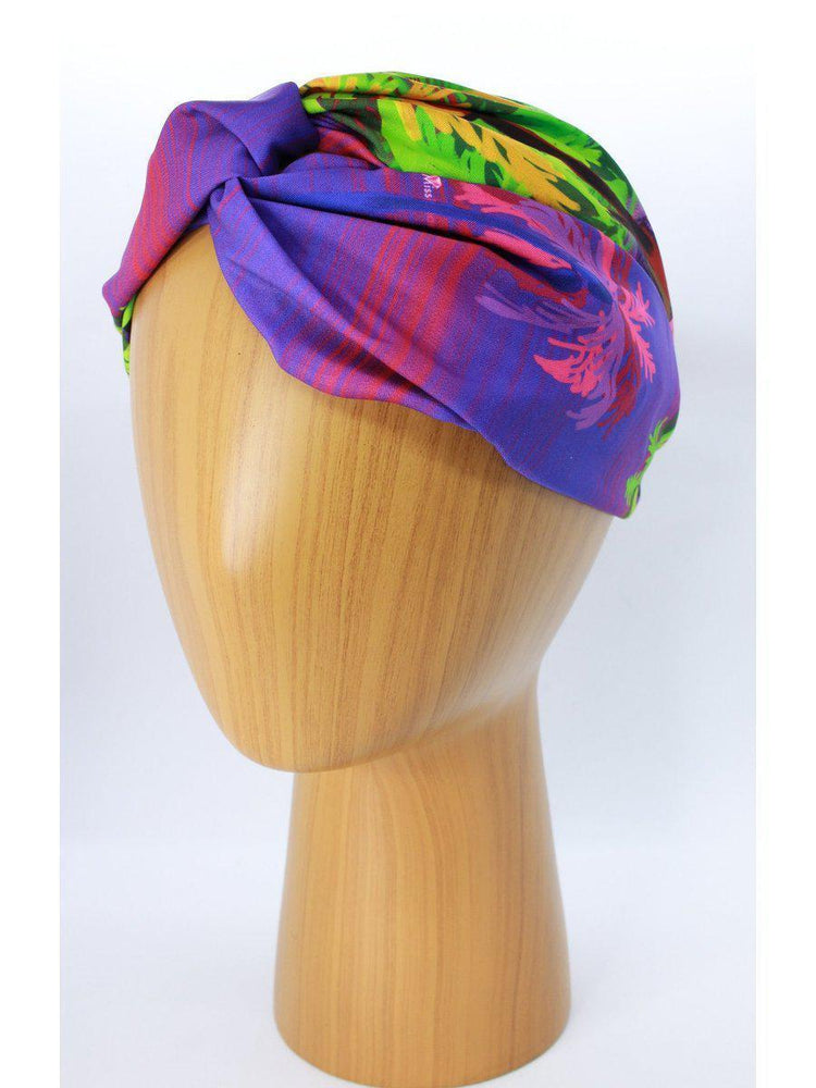 HEADBANDS - Lara Floral-Miss Balanta-PURPLE/GREEN-Shirlanka-Wynwood-Miami