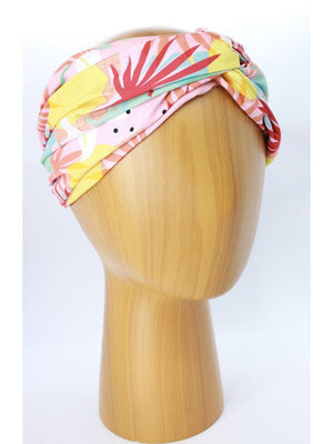 HEADBANDS - Lara Floral-Miss Balanta-PINK/RED/YELLOW-Shirlanka-Wynwood-Miami